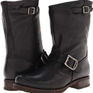 Frye mid calf black boot